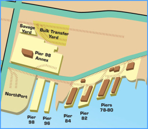 North Piers - Port Map