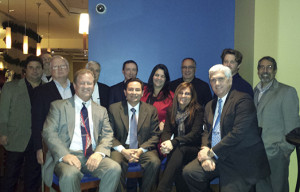 Top (L to R): Fred Manfredi, Rusty Luca, Jerry Coyle, Bob McCaig, SeaLand Cross Border Director Tim Hagerty, SeaLand Head of Customer Service Maria Batista, Fred Sorbello, Tom Holt III and Stephen J. Galati, Esq. Front (L to R): Tom Mutz, consul of Mexico in Philadelphia Carlos I. Giralt Cabrales, SeaLand Customer Service Manager Elizabeth Rappaport and Sean Mahoney.