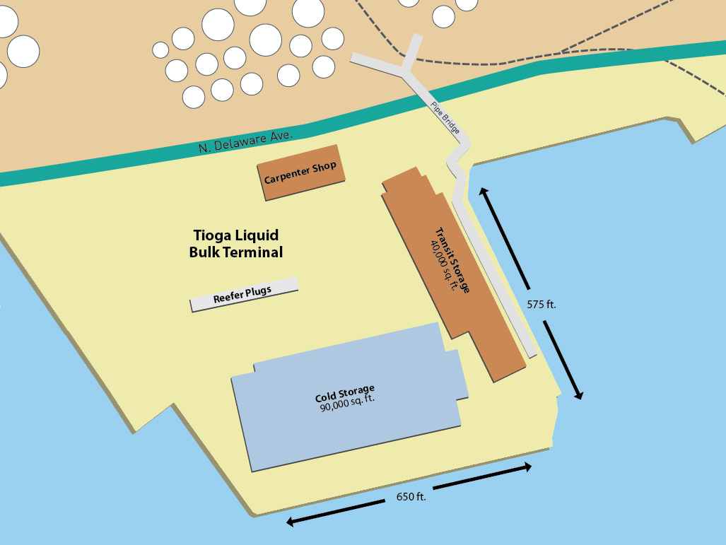 Tioga Liquid Bulk Terminal - Map