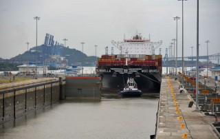 MSC Brunella travels Panama Canal